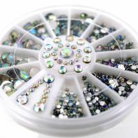 Стразы в карусельке, круглые, алмазная огранка