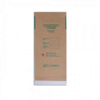 Пакеты бумажные самокл. 75*150мм, ПОШТУЧНО, СтериМаг (крафт)
