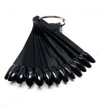 Палитра-веер на кольце 50 шт, черная, Миндаль