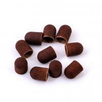 Колпачок педикюрный LUX, коричневый 13х19мм