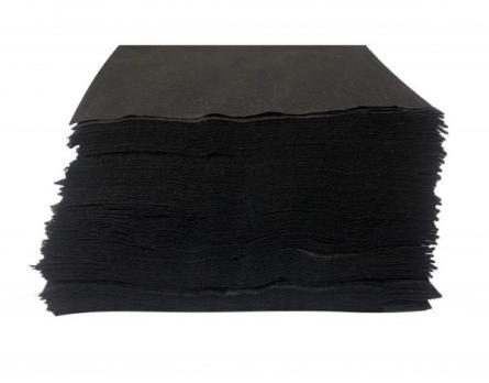 Полотенце 35*70 в пачке, черный спанлейс, 50шт