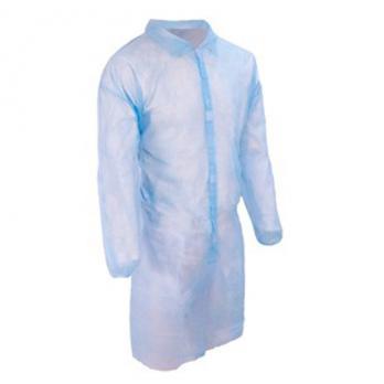 Халат на липучках, спанбонд 25гр, голубой