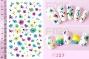 Наклейки на клейкой основе Nail Ornament, F020
