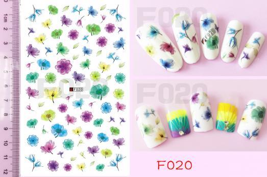 Стикер Nail Ornament, F020
