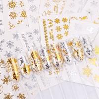 Наклейки переводные ZTS зимние (золото, серебро), в ассортименте