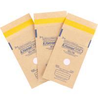 Пакеты бумажные самокл. 60*100мм, 100шт, КлиниПак (крафт)