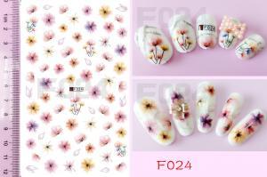 Наклейки на клейкой основе Nail Ornament, F024