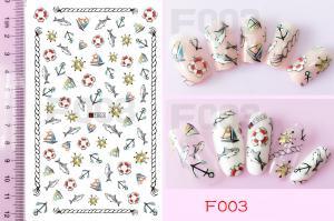 Наклейки на клейкой основе Nail Ornament, F003
