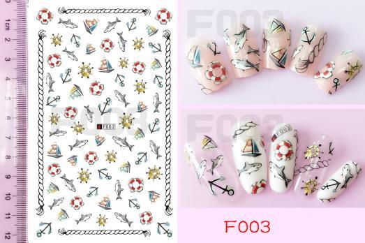 Стикер Nail Ornament, F003