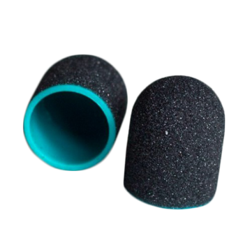 Колпачок педикюрный MedCaps (Польша), черный, 13мм, 150 грит