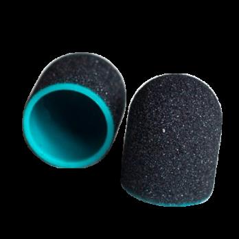 Колпачок педикюрный MedCaps (Польша), черный, 13мм, 220 грит