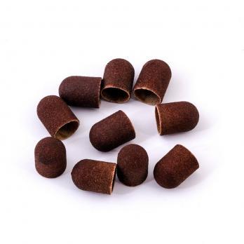 Колпачок педикюрный 13мм LUX, 240 грит, коричневый