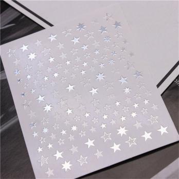 Стикер Joyful Nail Звездочки 3D, 361, серебро