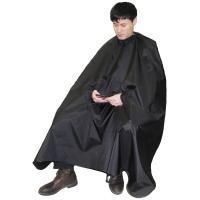 Пеньюар парикмахерский с вырезами для рук, черный