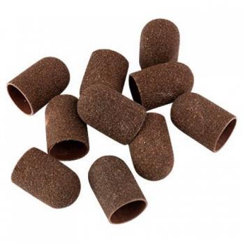 Колпачок педикюрный 5мм LUX, 80 грит, коричневый