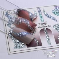 Слайдер Fashion Nails 3D Crystal 31