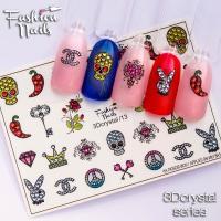 Слайдер Fashion Nails 3D Crystal 13