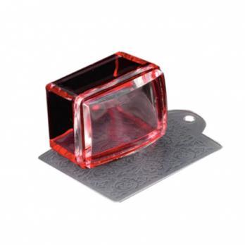 Штамп для стемпинга, прямоугольный, красный