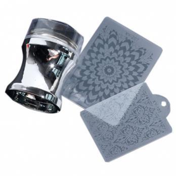 Штамп для стемпинга, серебряный