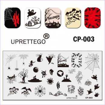Пластина для стемпинга UPRETTEGO CP-003