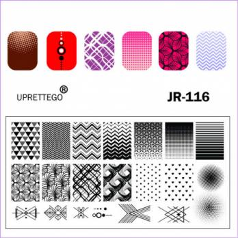 Пластина для стемпинга UPRETTEGO JR-116