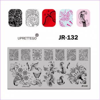 Пластина для стемпинга UPRETTEGO JR-132