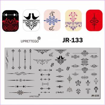 Пластина для стемпинга UPRETTEGO JR-133