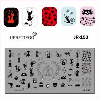 Пластина для стемпинга UPRETTEGO JR-153