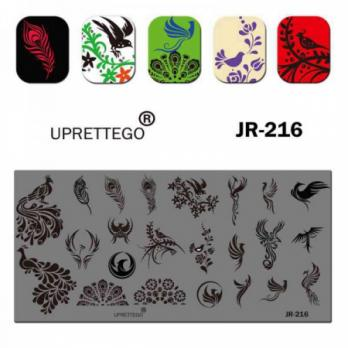 Пластина для стемпинга UPRETTEGO JR-216