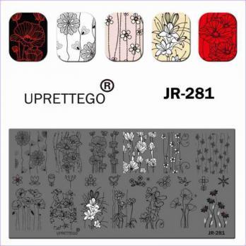 Пластина для стемпинга UPRETTEGO JR-281