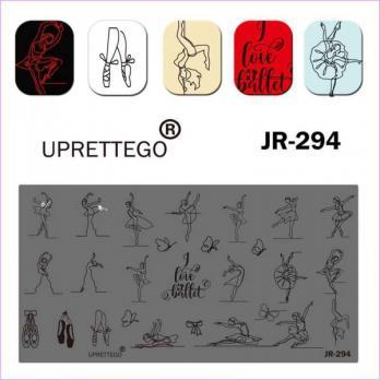 Пластина для стемпинга UPRETTEGO JR-294
