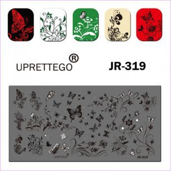 Пластина для стемпинга UPRETTEGO JR-319