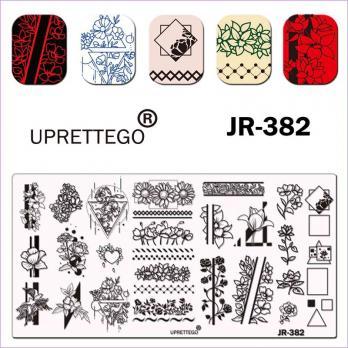 Пластина для стемпинга UPRETTEGO JR-382