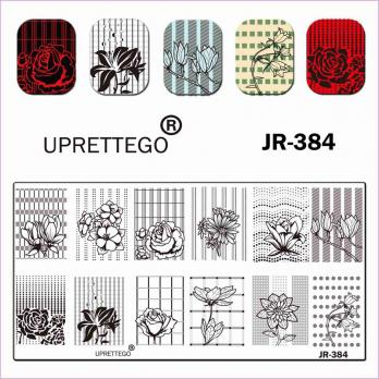 Пластина для стемпинга UPRETTEGO JR-384