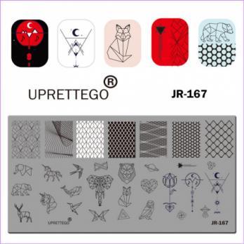 Пластина для стемпинга UPRETTEGO JR-167