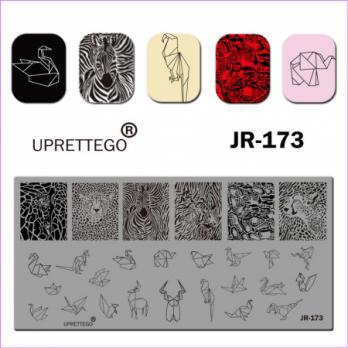 Пластина для стемпинга UPRETTEGO JR-173