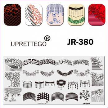 Пластина для стемпинга UPRETTEGO JR-380