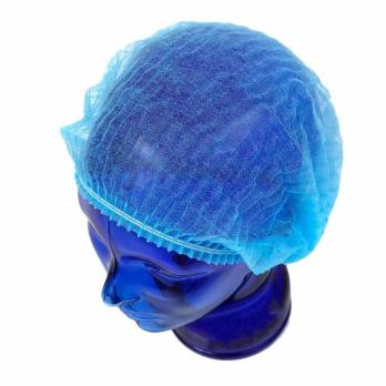 Медицинская шапочка Шарлотта, 100шт, голубая