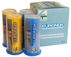 Микробраши Euronda Fine 2,0мм, 100шт, (жёлтые, голубые)