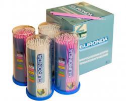 Микробраши Euronda Ultra Fine 1,5мм, 100шт (белые, лиловые)
