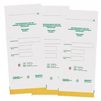 Пакеты бумажные самокл. 100*200мм, 100шт СтериМаг (белые)