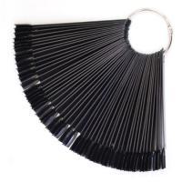 Палитра-веер на кольце 50 шт, черная