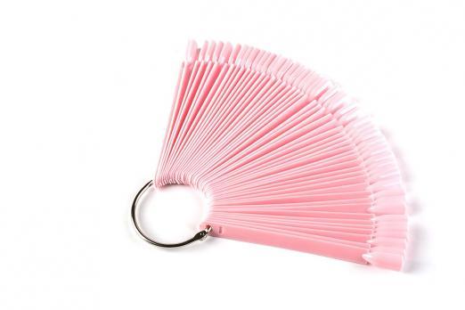 Палитра-веер на кольце 50 шт, розовая