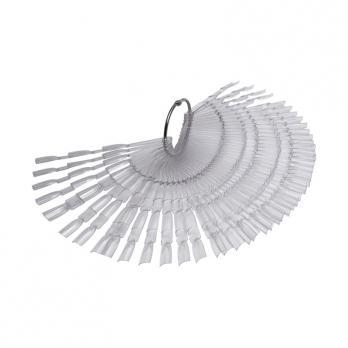 Палитра-веер на кольце 50 шт, прозрачная, Три Пальца