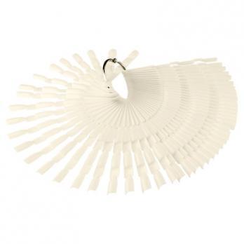 Палитра-веер на кольце 50 шт, молочная, Три Пальца