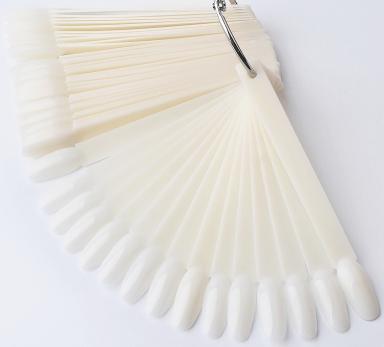 Палитра-веер на кольце 50 шт, молочная, Миндаль