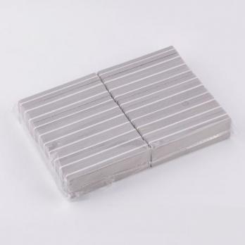 Пилка-баф прямоугольник, серый,100/180