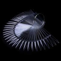 Палитра-веер Стилет на кольце, 50 шт, прозрачный