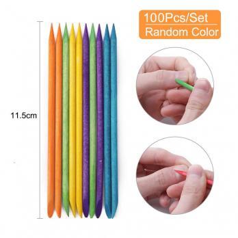 Палочки апельсиновые 11,5см, цветные (100шт)