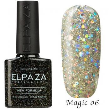 Гель-лак ELPAZA 10мл, №6 Magic, Алмаз